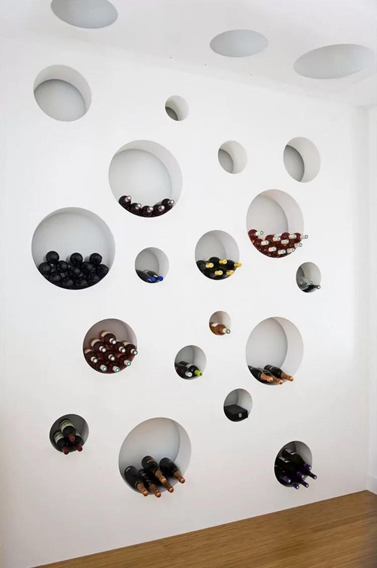 Patrón de soportes para botellas de vino 34 de pared