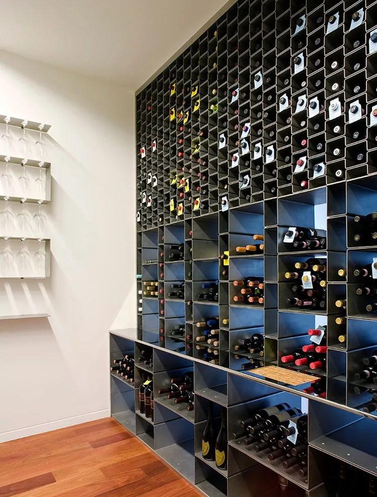 Patrón de soportes para botellas de vino 37 de pared