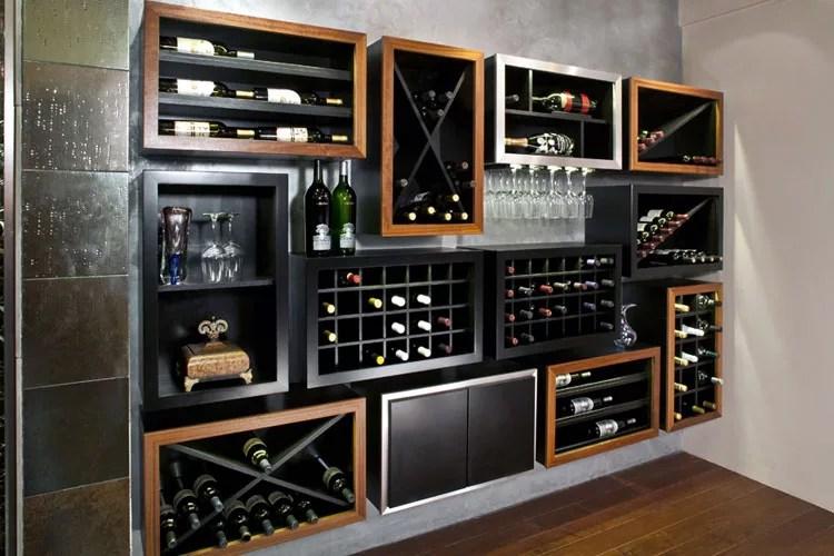 Patrón de soportes para botellas de vino 38 de pared