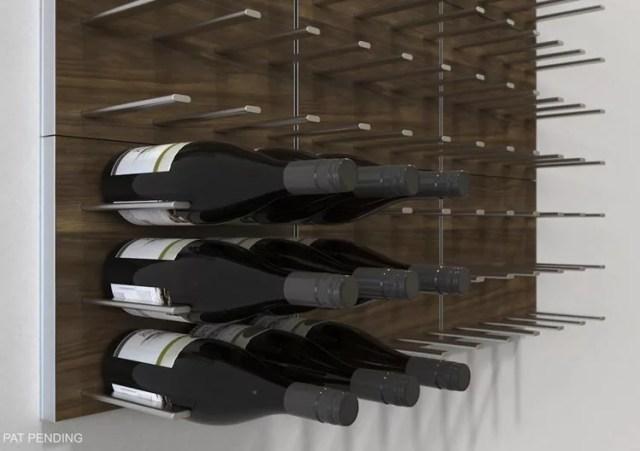 Patrón de soportes para botellas de vino 42 de pared