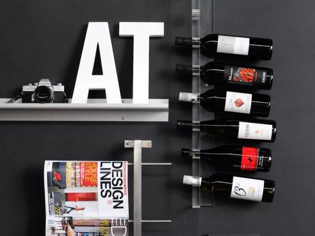 Patrón de soportes para botellas de vino 46 de pared