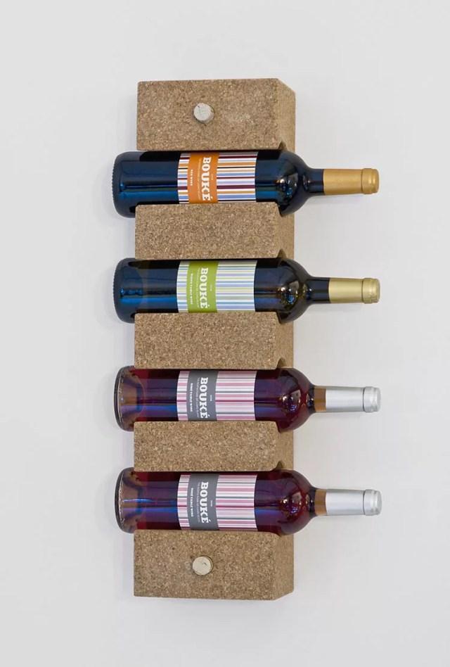 Patrón de soportes para botellas de vino 49 de pared