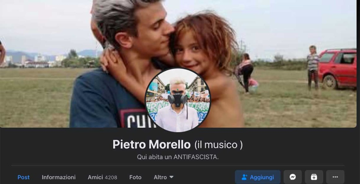 Pietro Morello su Facebook