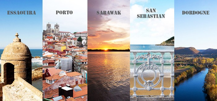 My Top 5 Travel Destinations to Explore in the World | Featuring Essaouira, Porto, Sarawak, San Sebastian, Dordogne