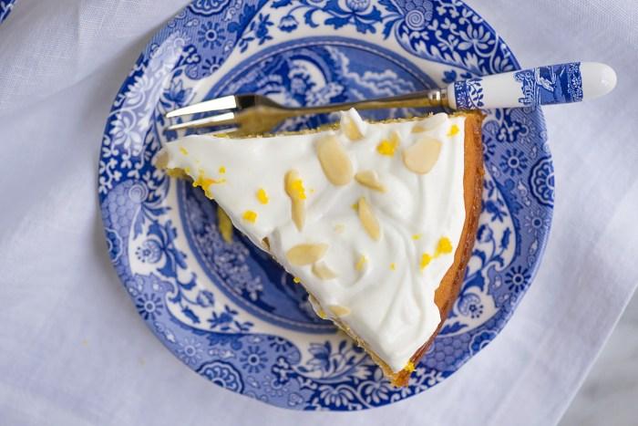 Honey and Orange Polenta Cake
