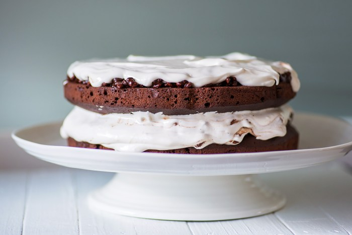 Chocolate Celebration Cake with Puffed Rice and Nougat Frosting - Recipe from Jamie Oliver Comfort Food