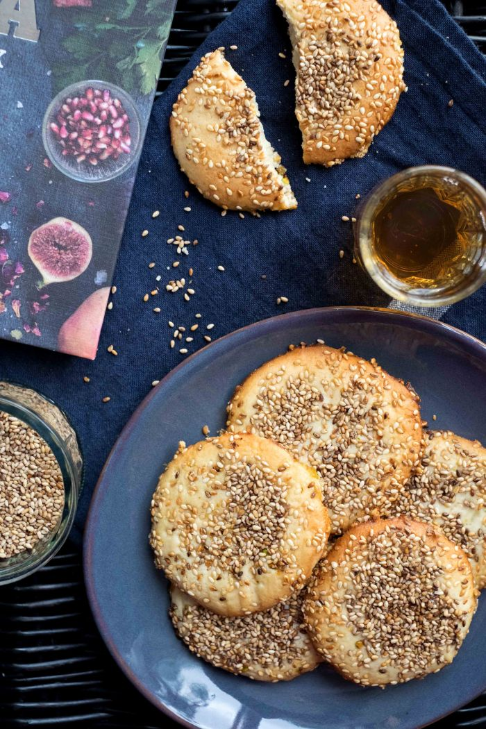 Barazek (Sesame Pistachio Biscuits)