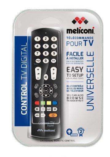 22Meliconi Control Tv digital Telecomando di ricambio universale per tv compatibile con tutte le principali marche e modelli facile da programmare22.
