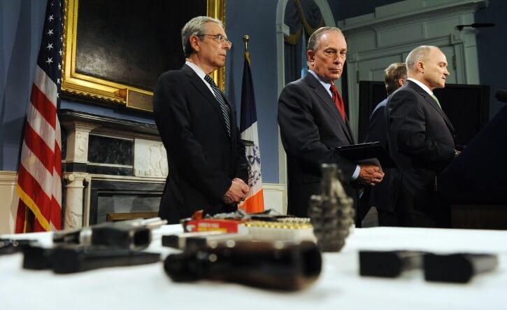 From left to right, David Cohen, NYPD Deputy Commissioner for Intelligence and former CIA agent; Mayor Michael Bloomberg; and NYPD chief Ray Kelly (Photo: EPA/ANDREW GOMBERT)