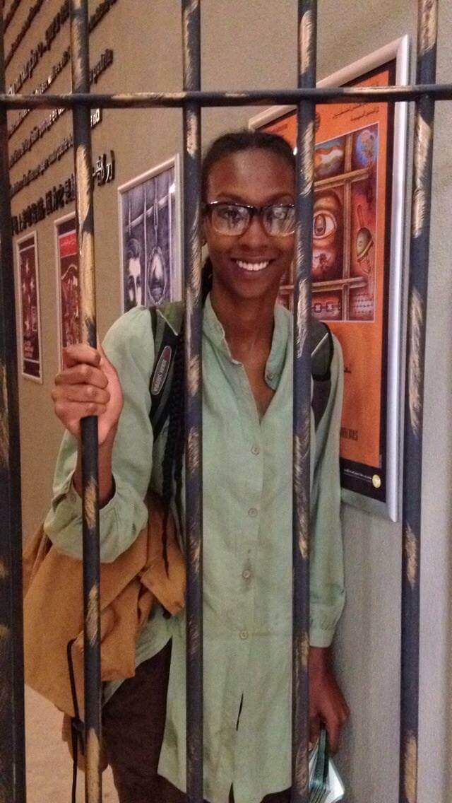 Kamilla Moore at the Al Quds University prisoner museum.
