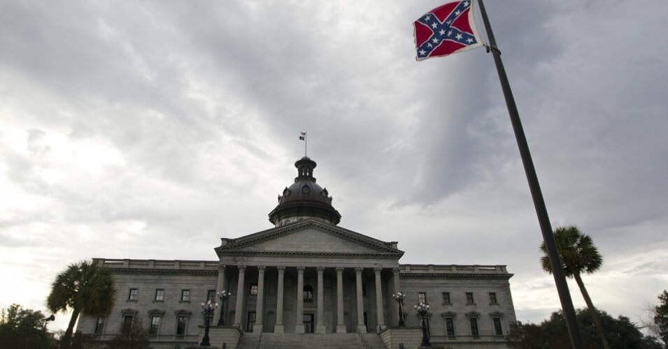 Confederate flag at South Carolina statehouse