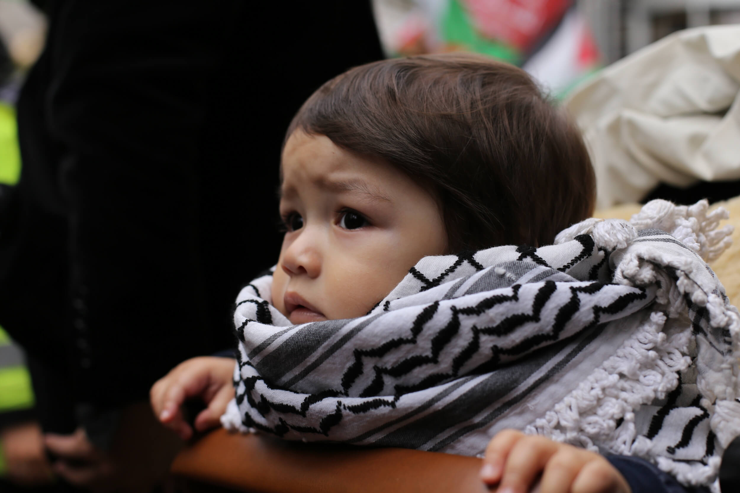 Families participated en masse, hoping for freedom for future generations of Palestinian children. (Photo: Sara Anna)
