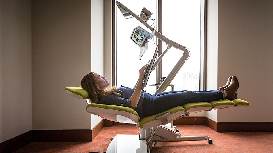 I tried a $7,600 desk that lets you get horizontal at work