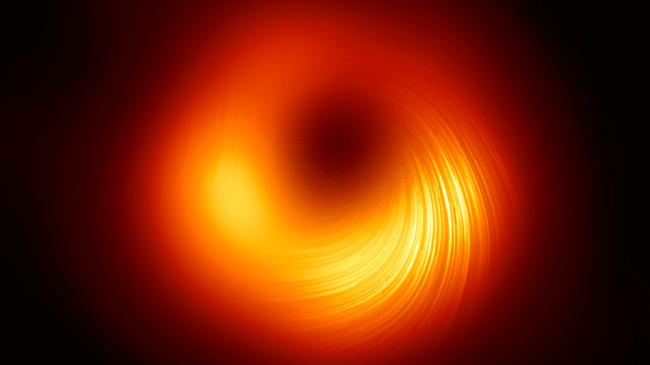 Mesmerizing image of black hole reveals magnetic field