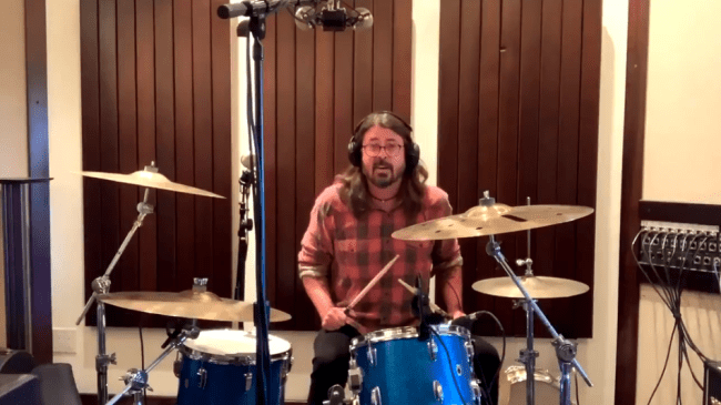 Dave Grohl is in an adorable remote drum battle with a 10-year-old