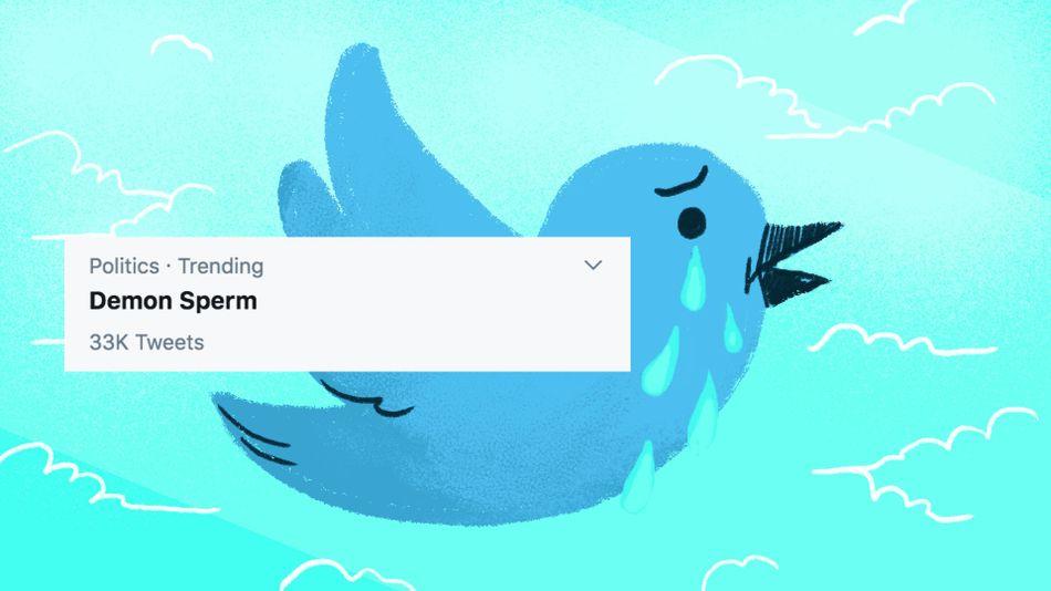 Americans woke to 'demon sperm' trending on Twitter