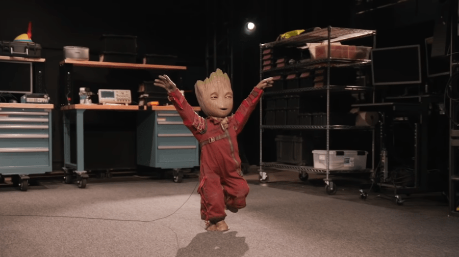 Disney made a demon Groot robot that dances, and sure why the hell not