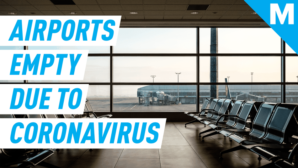 Airports around the world are empty because of coronavirus