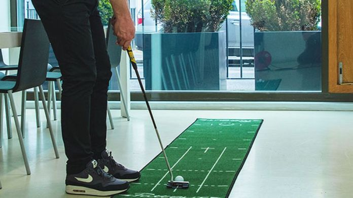 Why practice your putt outside when you can do it in your home?