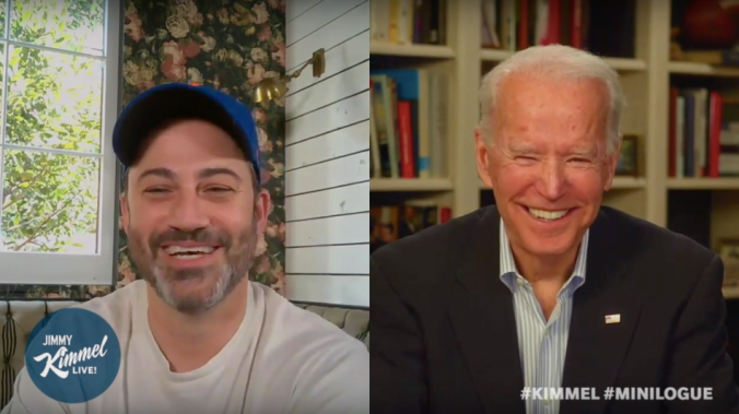 Joe Biden joins Jimmy Kimmel to talk cooking, coronavirus, and calling out Trump