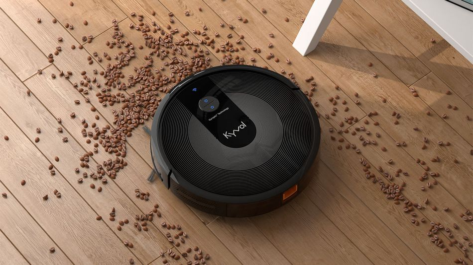 Outsource the floor cleaning to a robot vacuum.
