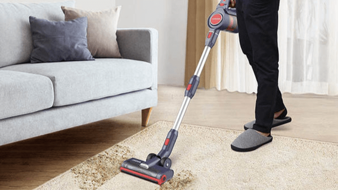 Thoroughly clean your carpet with a powerful vacuum.