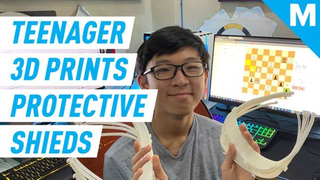 Teenager in lockdown spends his time 3D printing protective shields for health workers