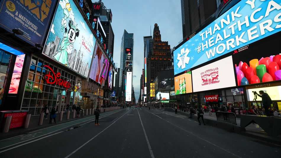 Jaw-dropping photos show iconic New York City locations emptied out because of coronavirus