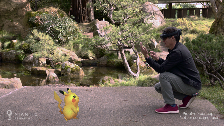 Playing 'Pokémon Go' looks a lot more fun with a HoloLens 2