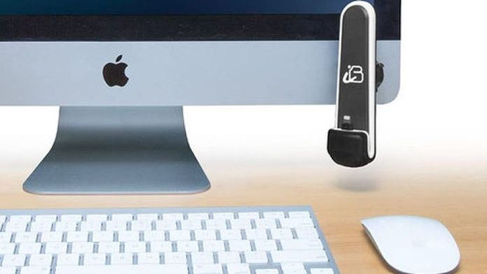 The iBolt ChargeDock magnetically sticks to any desktop.