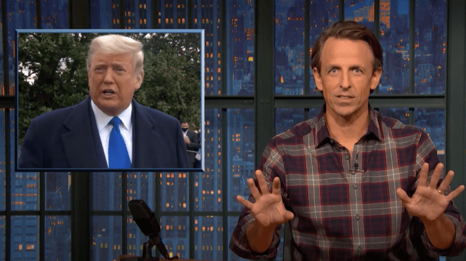 'He's gone full Hodor': Seth Meyers roasts Trump for whining about COVID still being a thing