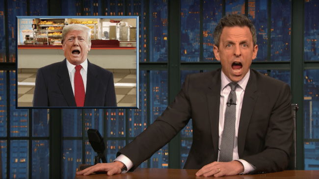 Seth Meyers mocks Trump's totally predictable failure to 'learn from' being impeached