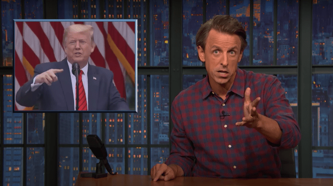 Seth Meyers picks apart Trump's 'cringe-inducing' interview on '60 Minutes'