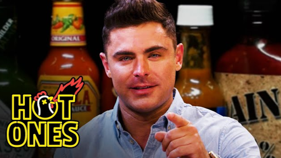 Watch Zac Efron cry and be incredibly charming on 'Hot Ones'