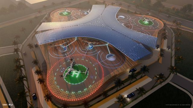SHoP is a futuristic design for an LA skyport.