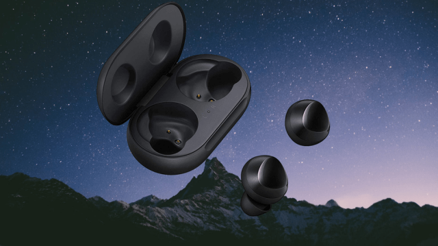 The Galaxy Buds can charge wirelessly from any Galaxy S10 phone — AirPods can't do that with iPhones.