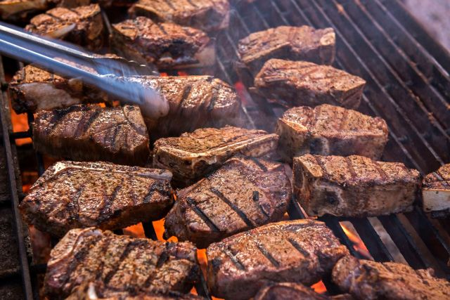 Look at all that beef.