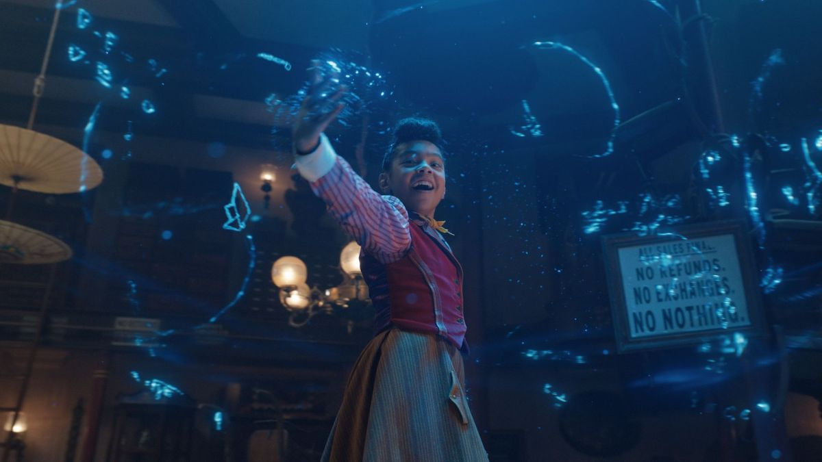 Madalen Mills as Journey Jangle in Netflix's incredibly delightful holiday musical.