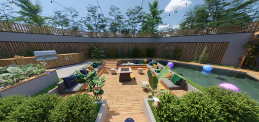 If you think Mashable Home's backyard is picturesque now, just wait until you see it at night 👀