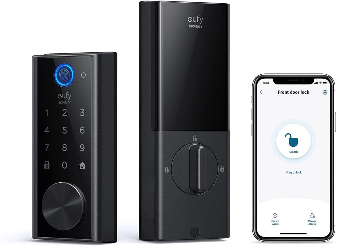 This smart lock lets you unlock your door with your fingerprint, and it's on sale