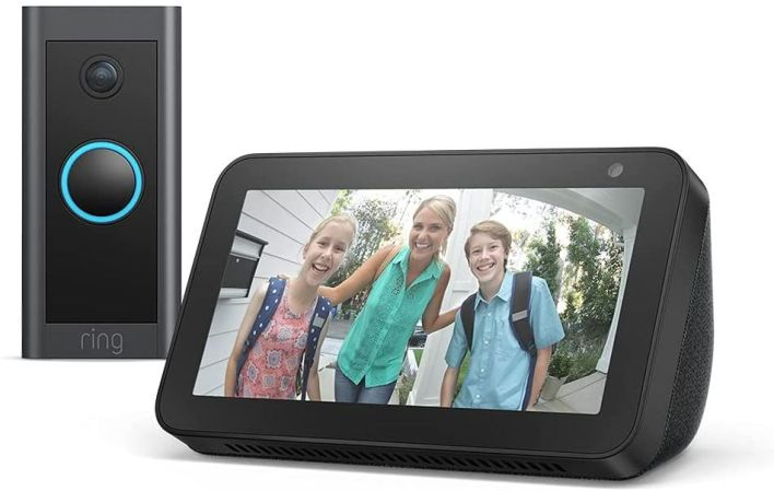 The Echo Show 5 and Ring Video Doorbell bundle is on sale for under £50