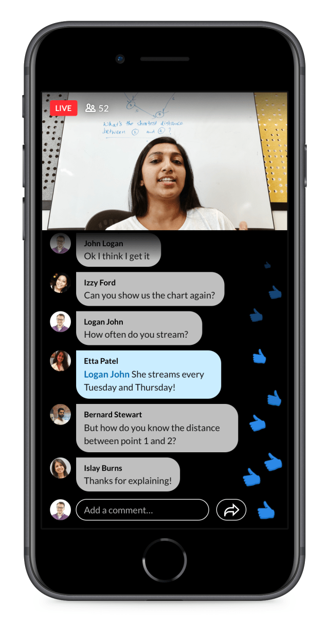 LinkedIn is looking to highlight interactivity with its LinkedIn Live streaming platform.