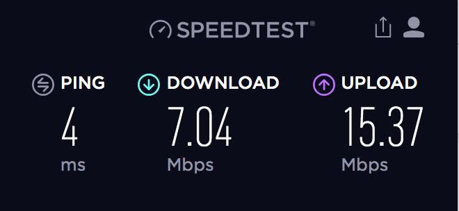 احصل على لمحة سريعة عن اتصالك بالإنترنت من خلال Speedtest.