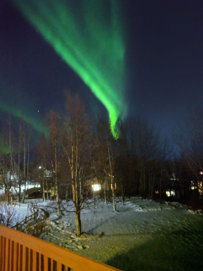 The aurora view from the porch of Evan Lites. This picture was taken on a pixel 1.