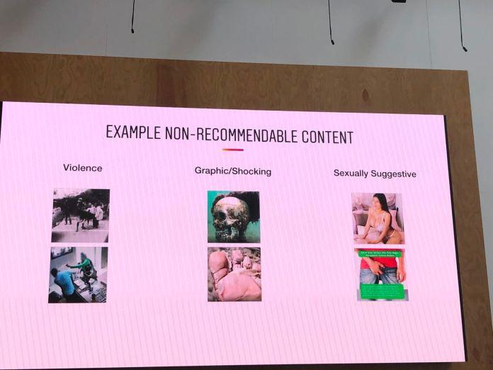 Exemplos do Instagram dos tipos de conteúdo que serão excluídos das recomendações.