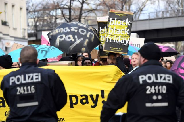 European Amazon employees protested Black Friday sales last year to call attention to poor working conditions.