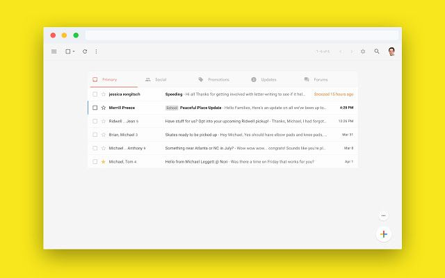 Simplifying Gmail does exactly what it seems like it should do.