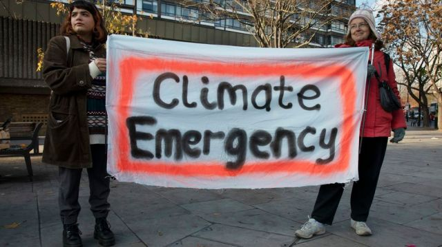 Climate change activists, like those in Extinction Rebellion, have used the term