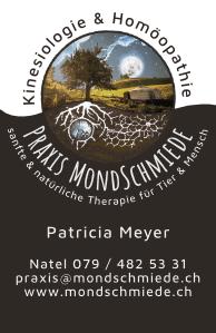 Praxis Mondschmiede - Kinesiologie und Homöopathie - Patricia Meyer - Natel 079/4825331 - Gommen 17, 4950 Huttwil - praxis@mondschmiede.ch