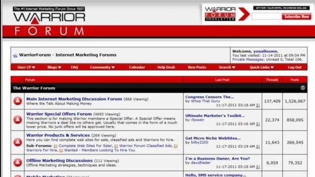 How to start a forum like WarriorForum
